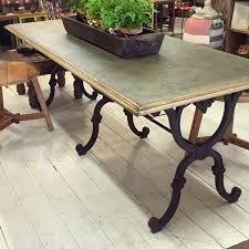 image result for wrought iron legs for dining tables