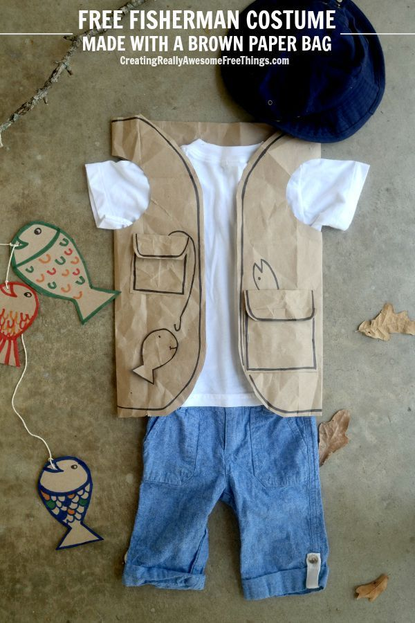 Use a paper bag to make a fisherman vest!