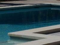 #White Granite Pool Coping Tiles. #GranitePool paved with White Granite