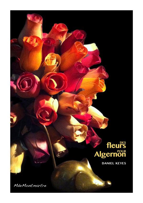 """Illustrations en objets de récupération.: BOOK COVER """"Des fleurs pour Algernon"""""""