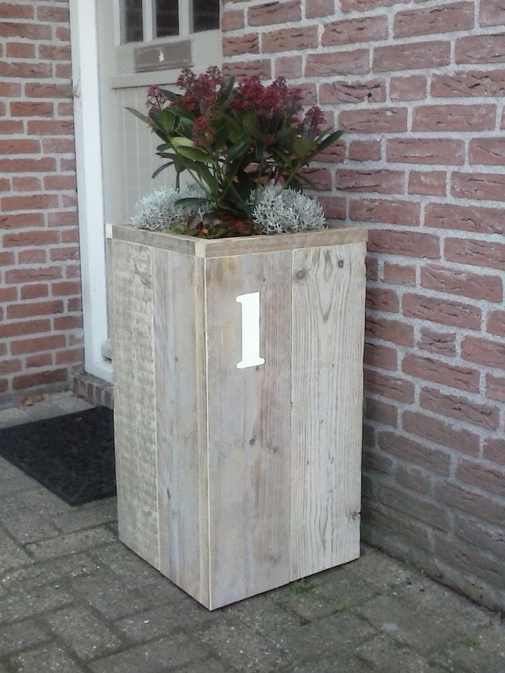 Bloembak oud steigerhout Harrie de Weert Multidiensten #harriemade