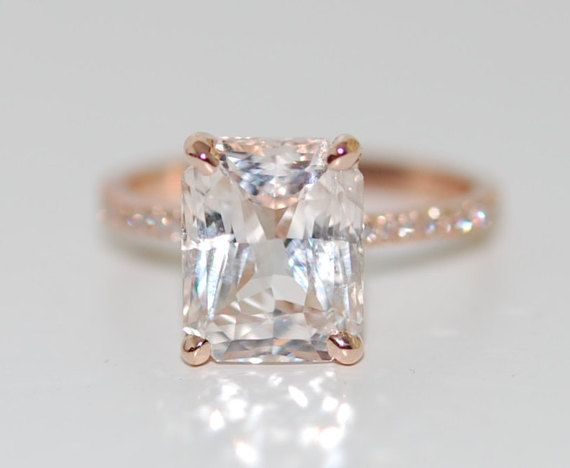 Blake Lively ring White Sapphire Engagement Ring by EidelPrecious