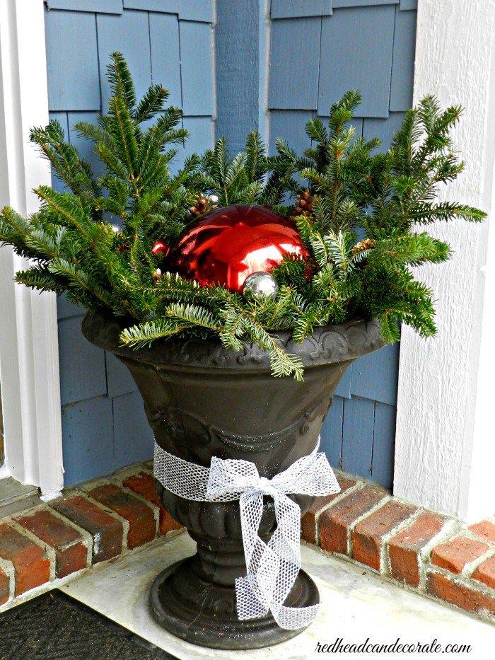 Outdoor Christmas Decor diy Christmas Pinterest Christmas