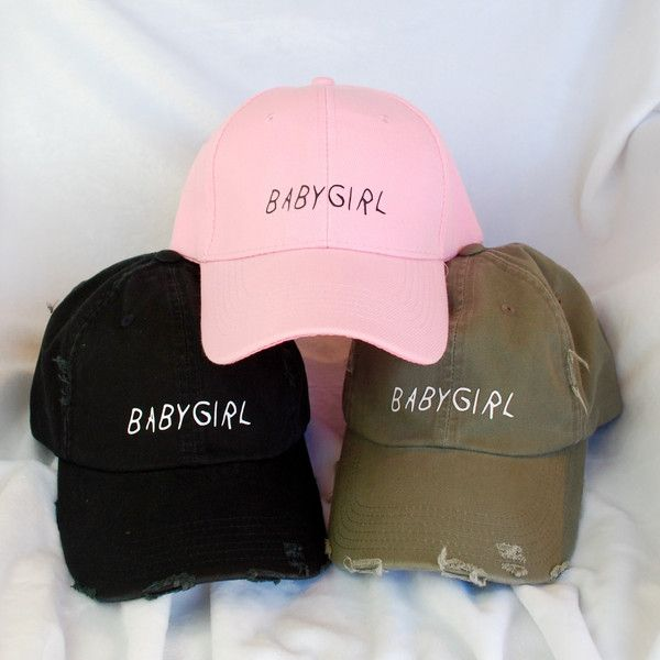 """The """"BabyGirl"""" Distressed Baseball Cap is the perfect addition to your wardrobe for summer!"""