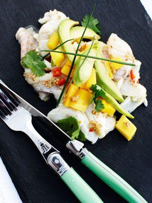 Ceviche med mango og torsk