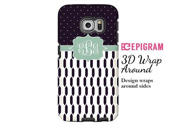 Monogram Samsung Galxy S6 Edge case black and by EpigramCases