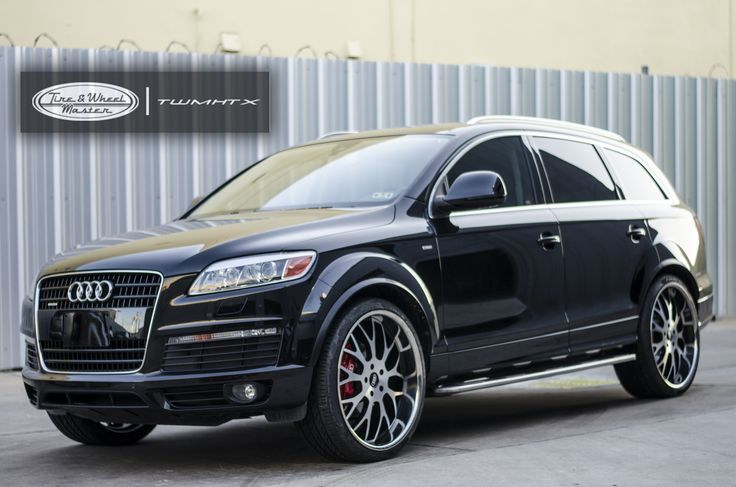 Black Audi Q7 with Custom Wheels | Audi | Pinterest | Audi q7, Galleries and Wheels