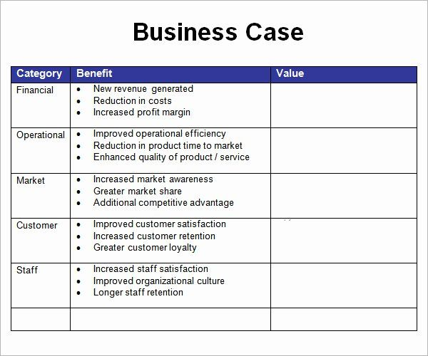 Business Case Template Word In 2020 With Images Business Case