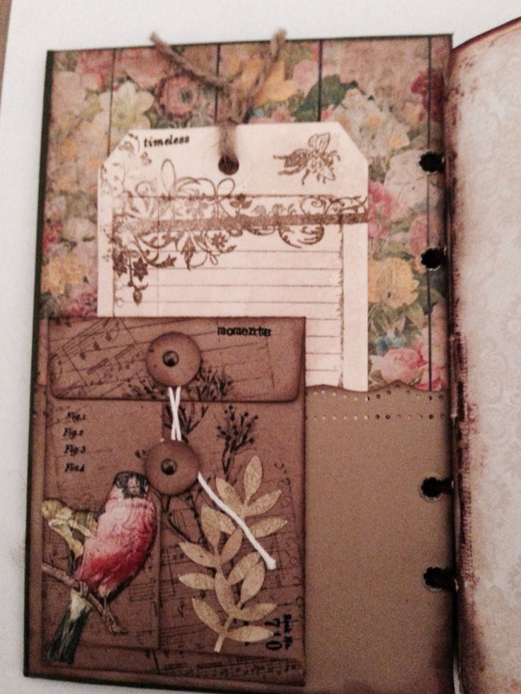 Garden junk journal inside cover                                                                                                                                                      More