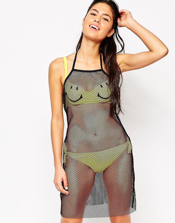 """¡Cómpralo ya!. Vestido playero de malla de Moschino. """"Vestido playero de Moschino En un acabado de malla ligero y suave al tacto Diseño anudado al cuello Corte slim ajustado al cuerpo Lavar a mano 94% poliéster, 6% elastano Modelo: Talla UK 8/EU 36/USA 4; Altura de 173 cm/5'8"""""""" El bikini no viene incluido con la prenda"""" , vestidoinformal, casual, informales, informal, day, kleidcasual, vestidoinformal, robeinformelle, vestitoinformale, día. Vestido informal  de mujer color negro de Mosch..."""