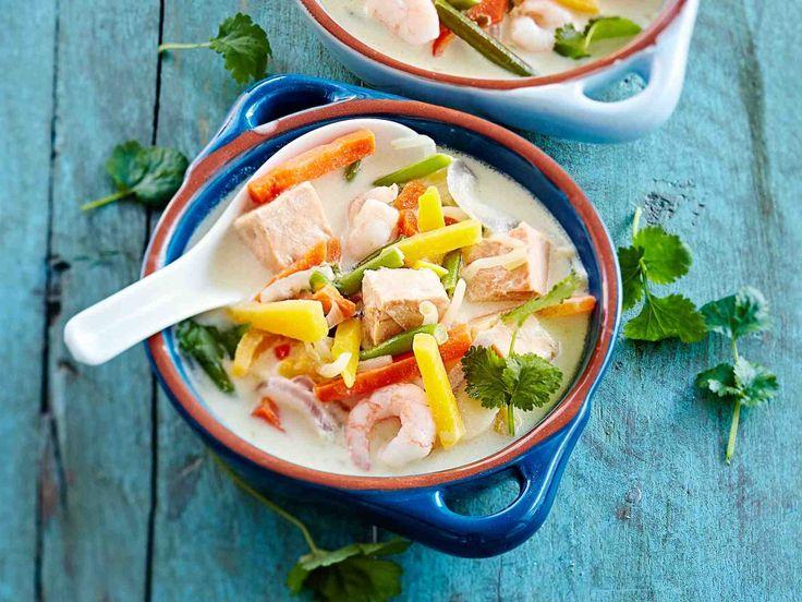 Thaimaalaisessa kalakeitossa on chiliä, inkivääriä ja kookosmaitoa. Keitto syntyy helposti pakastelohesta ja…