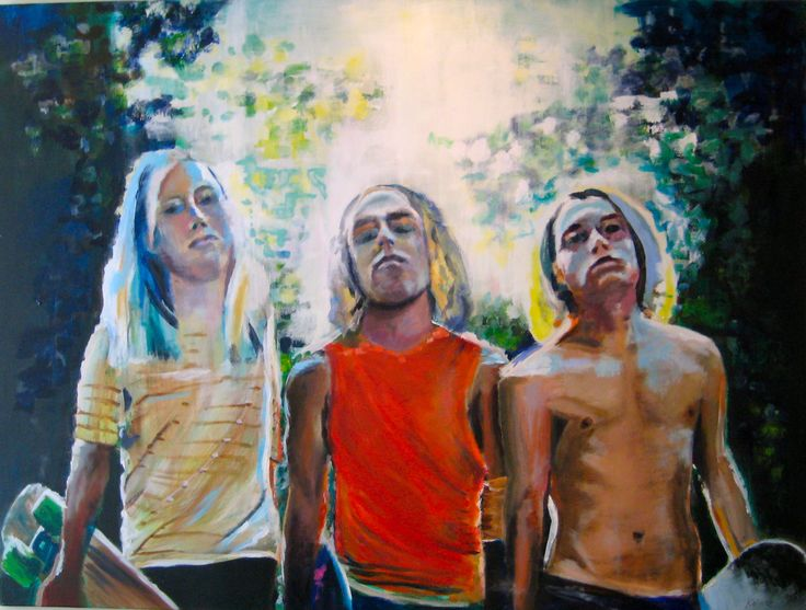 "#elementedenartsearch  ""Dogtown""- Kaja Weum, 90cm * 120cm Acrylic on canvas www.kajaweum.com"