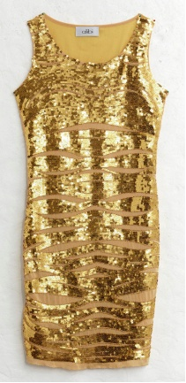 Gold Sequined Dress by Alibi at AlibiOnline. As seen in Shop Til You Drop.