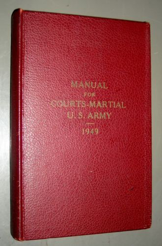 United states army manual for courts martial 1949 hardcover 9 99