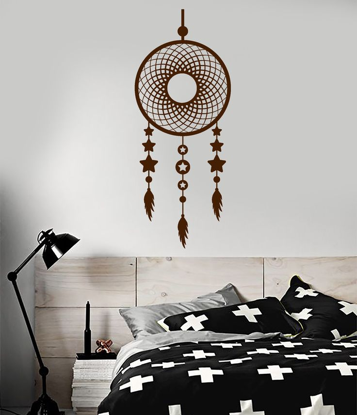 Vinyl Wall Decal Dreamcatcher Stars Ethnic Bedroom Style Decorating Stickers Mural (ig5034)