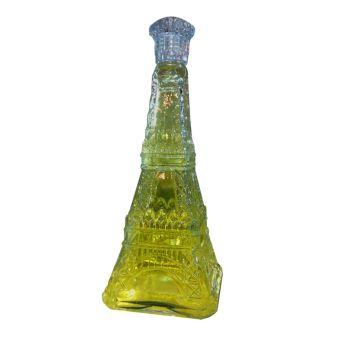 Eyfel Kulesi Şekilli Cam Şişede Kalıcı Limon ile Meram Çiçeği Esanslı Hediyelik Kolonya