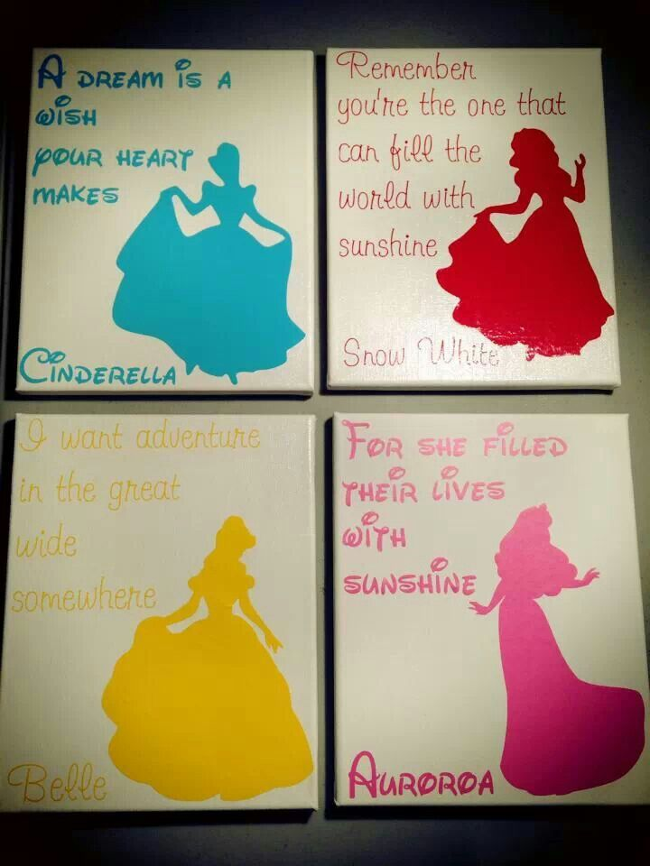Disney Princess Vinyl Pictures - Silhouette Cameo this is a lot like what I was thinking
