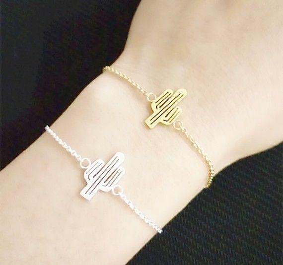 bracelet cactus. idée cadeau femme bracelet tendance