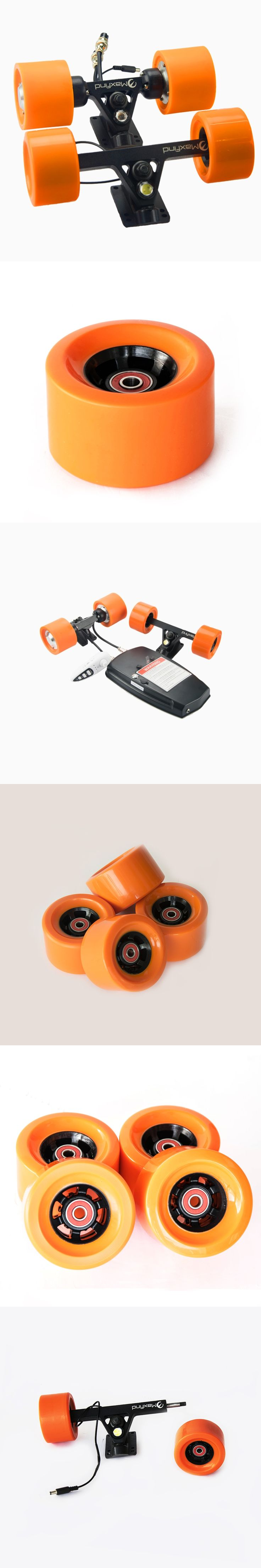 New Orange Color Wheels 1/2/3/4pcs Skateboard Bearings Smooth Riding Durable Longboard Wheels Professional Skate Board