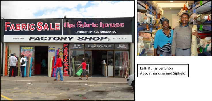 Kuilsriver Factory Shop and Staff- The fabric house