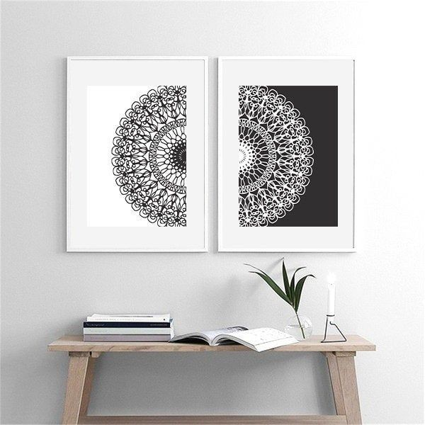 Excited To Share The Latest Addition To My Etsy Shop A4 Mandala Wall Art Set Of 2 Small Home Decor Mandala Mandala Wall Art Yoga Room Decor Mural Wall Art