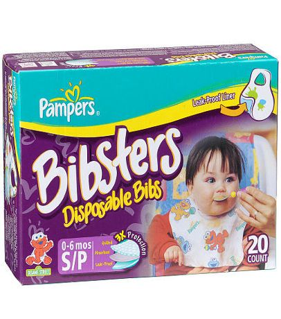 Bibster Small Disposable Bibs - 20 Count