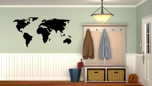 Maailmankartta sisustustarra. #sisustustarra #maailmankartta #seinätarra #kartta