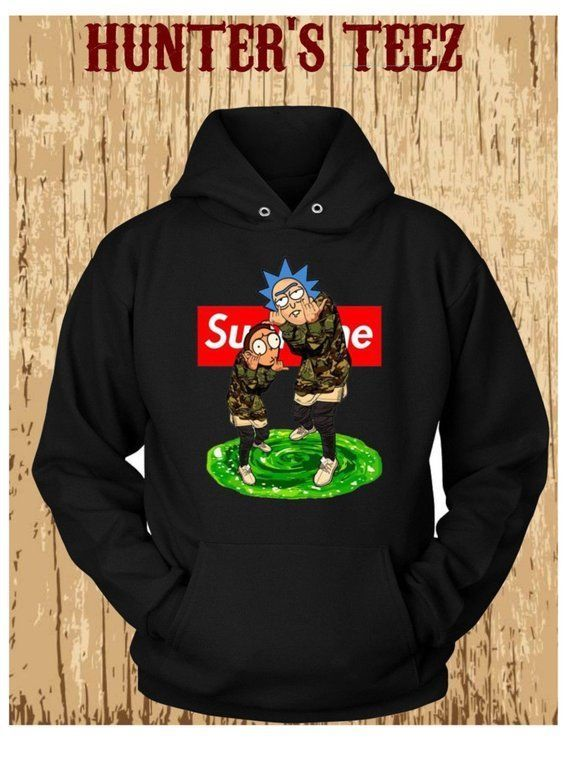 9da787dc0f77 Rick and Morty Supreme Graphic Black Hoodie  fashion  clothing  shoes   accessories