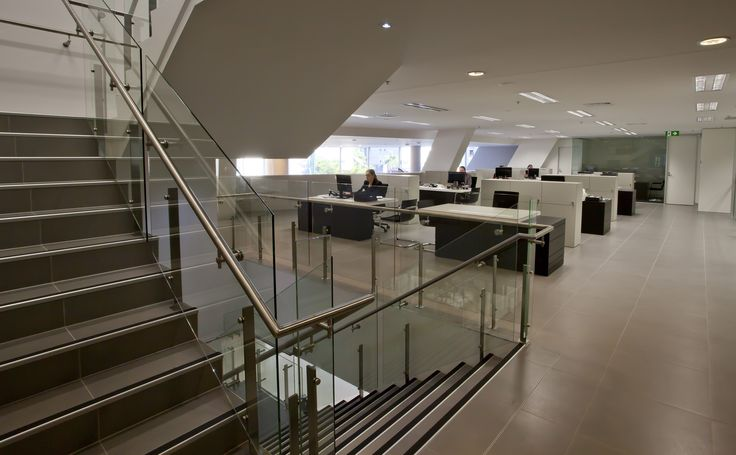 Audi uses Thump balustrade on their new Fortitude Valley offices to match their own sleek and elegant designs.