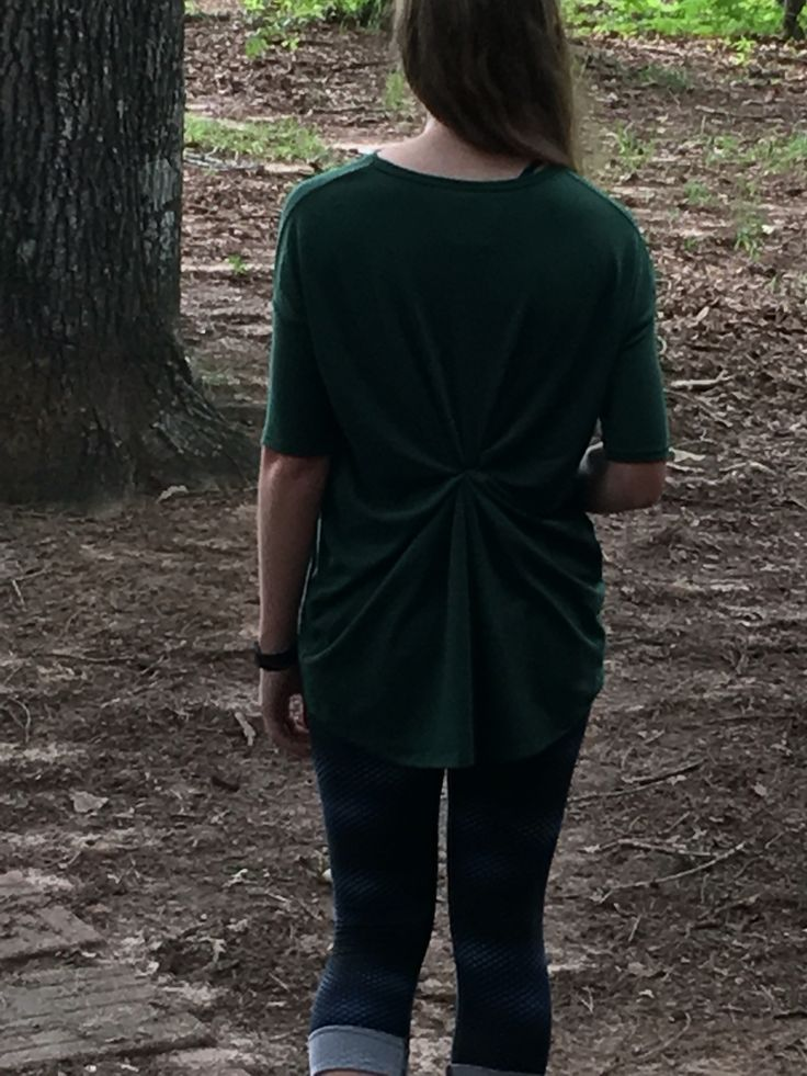 Love this styling Idea for the LuLaRoe Irma Top! It is super simple to do just turn the Irma inside out and grab a section in the middle of the back to tie with a hair tie! It helps to shorten up the back and makes for a pretty spin ❤️ Visit my sale page on Facebook at https://www.facebook.com/groups/LuLaRoeMorganV/ for more LuLaRoe goodies!