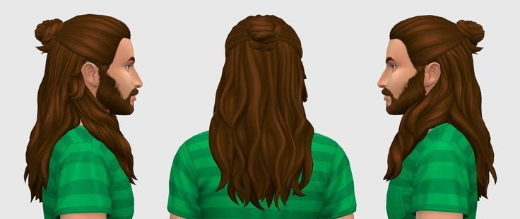 There is not enough long hair for male Sims. So here's the first one in … – Long hairstyles