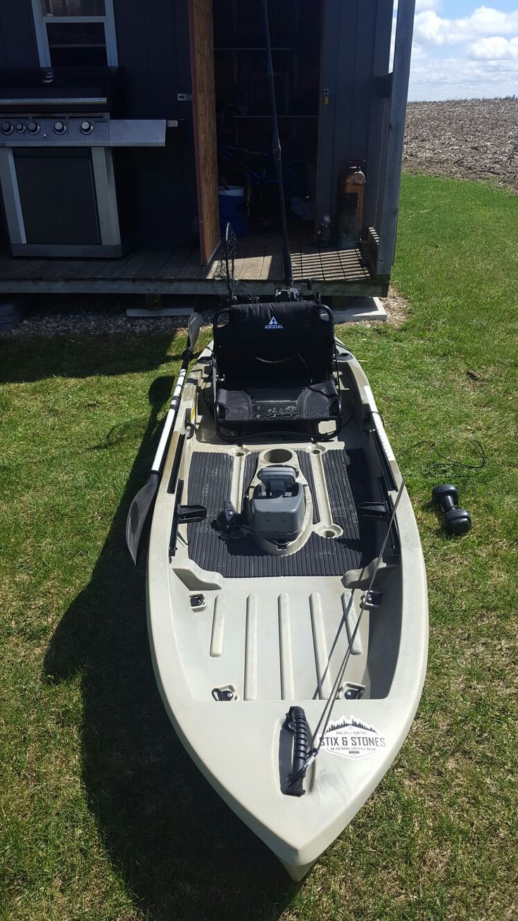 Ascend 10T kayak outfitted