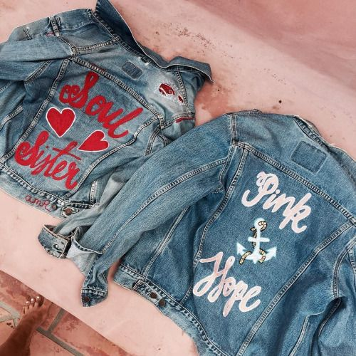"""stylishblogger: """" To say I'm excited about this is an understatement… These @allmy_relations custom @pinkhopeaus jackets are beyond my wildest dreams… #beyond by @elle_ferguson """" Ohh!) I can do that"""