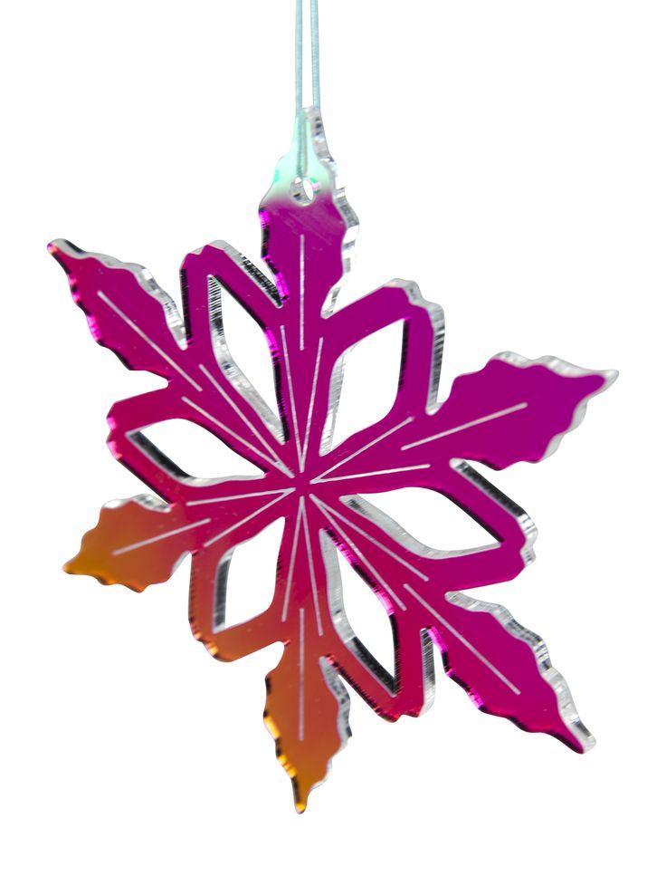 Christmas hanging from Rølga  Material: radient plexiglas Buy it on: http://rolga.tictail.com