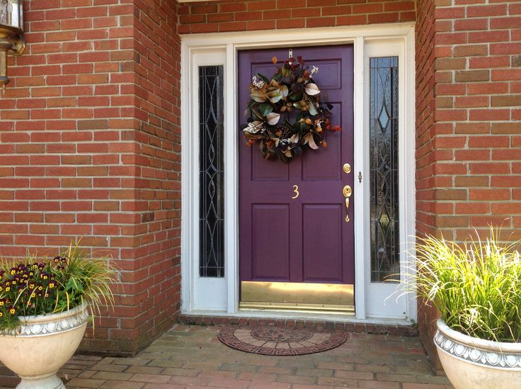 Love my new front door painted in sherwin williams mature Curb appeal doors