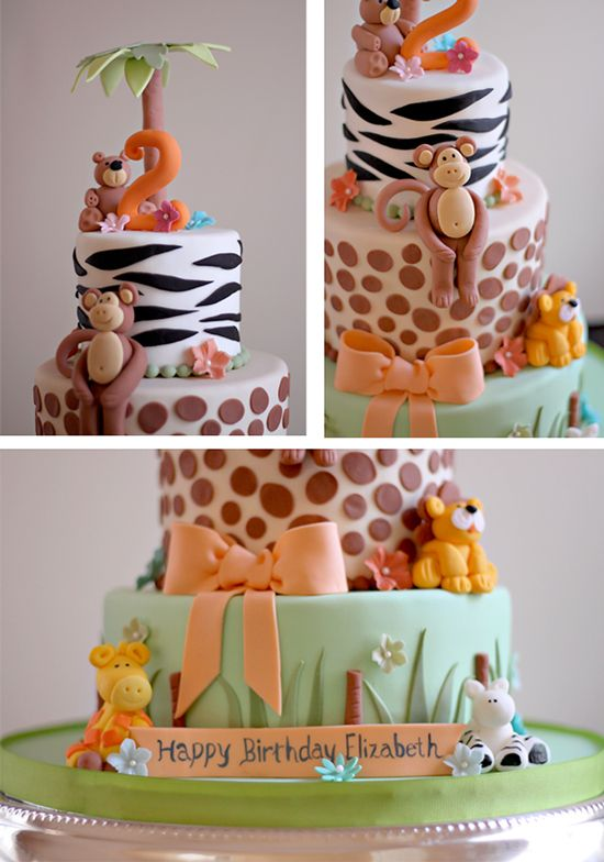 Oh how I love creating children's birthday cake. I had so much fun making the little fondant animals for Elizabeth's 2nd birthday cake. The birthday girl had a zoo theme birthday party…