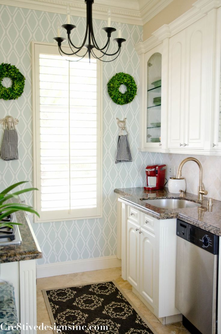 the 25+ best kitchen wallpaper ideas on pinterest