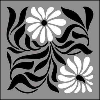 Art Nouveau Tile No 23 stencils, stensils and stencles