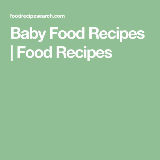 Baby Food Recipes   Food Recipes