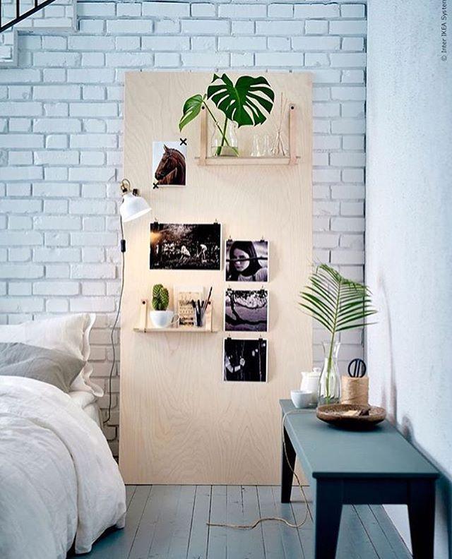 Hele leuke DIY nachtkastje / plank van powerplex met daaraan gave leren  straps voor planken -