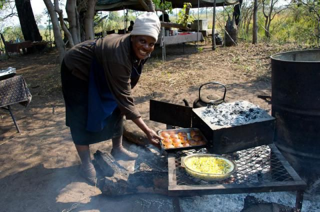Depending on the budget there may be a full camp staff to do all the cooking and setting up camp for you or you may be expected to help with some of these tasks.