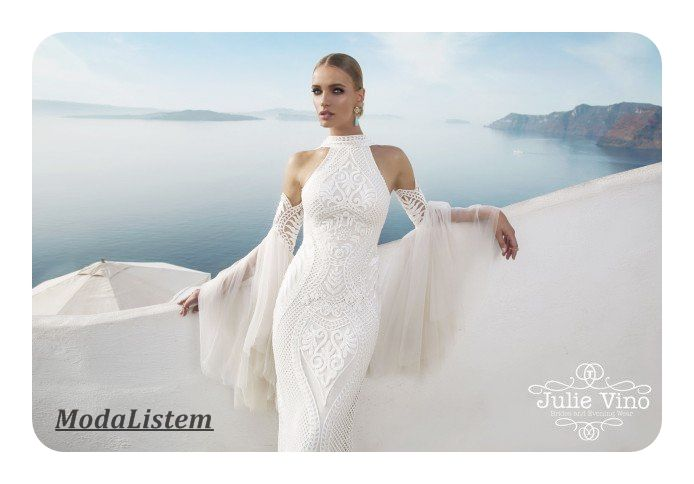 Yakında evlenmeyi düşünüyorsanız mutlaka göz atmanız gereken gelinlik modelleri arasında Julie Vino'nun Santorini isimli koleksiyonu olmalı.