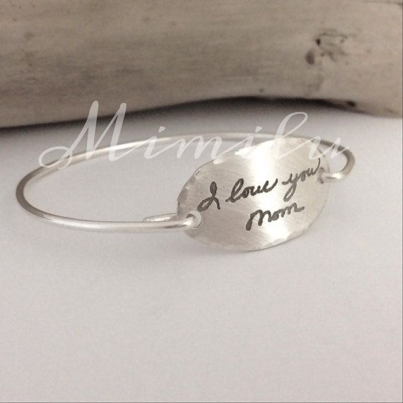 Your Loved One's Actual Handwriting Jewelry Sterling ...