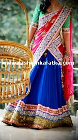 Alluring Tri Color Lehenga Choli