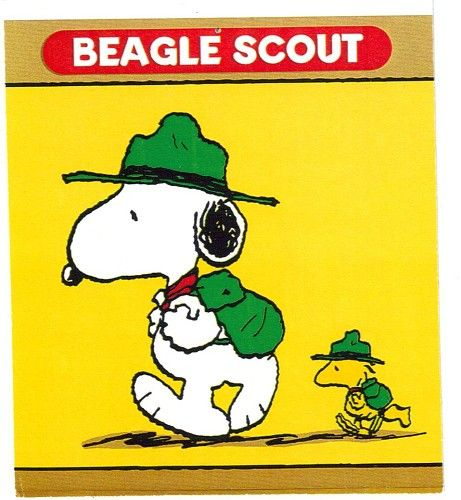 Snoopy Beagle Scout Magnet Best Beagle in the House - Magnets