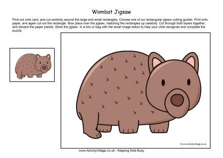 Wombat jigsaw