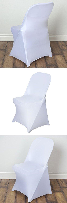 10 pcs Spandex Folding CHAIR COVERS Wedding Supplies - White
