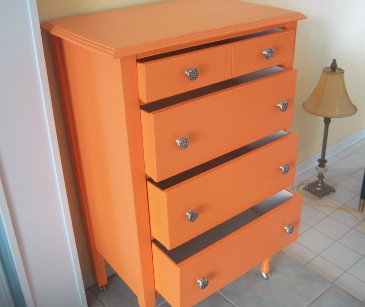 Orange Painted Furniture, Orange Shed Furniture And