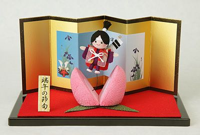 decoration for Children's day made from Chirimen,Kimono fabric