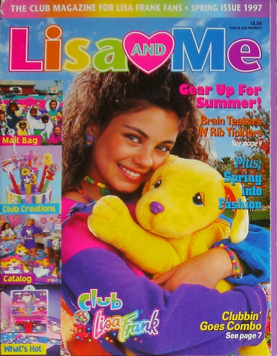 Mila Kunis on the cover of Lisa and Me from Lisa Frank